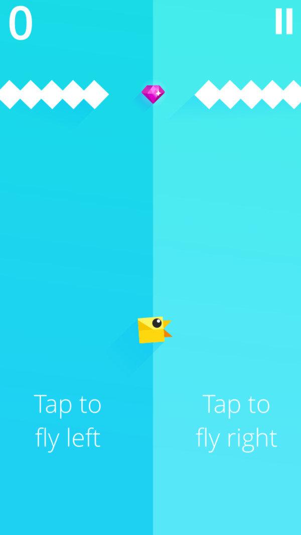 小鸟向上爬