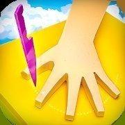 刀戳手指缝