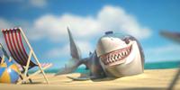 一个人在水里游泳有鲨鱼游戏合集