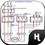 星三角起动器控制图电气